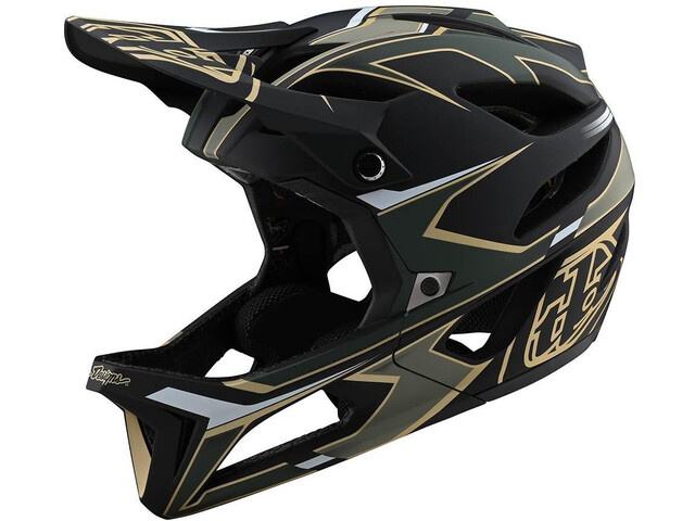 Troy Lee Designs Stage MIPS Helm, ropo green/gold